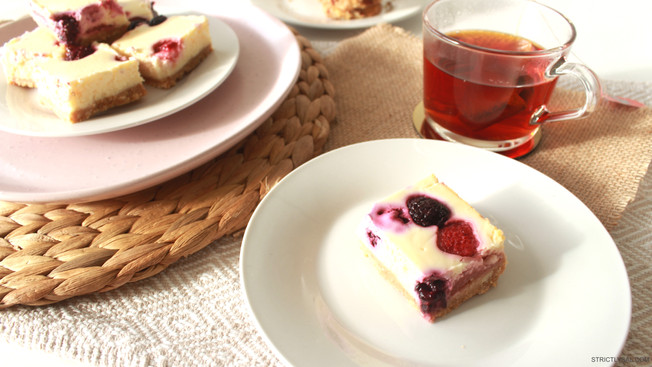 Berry Cheesecake Slice