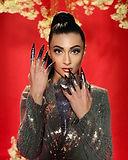 r'n'b music video nails long stiletto