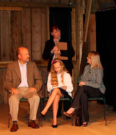 "Scene from the Theatre Three (NY) production of ""Back to Normal,"" a ten-minute comedy about the inevitable future of ADHD. Available royalty-free from Alaskan playwright Tom Moran."
