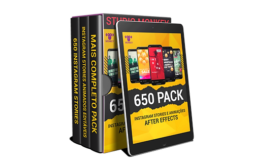 650 Pack Instagram stories Animados Editáveis After Effects