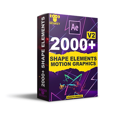 2000+ Shape Elements Motion Graphics After Effects