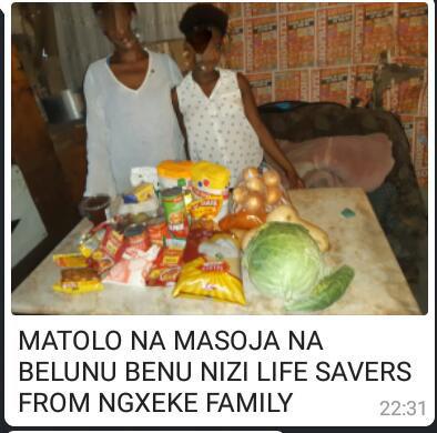 Ngxeke family from Gugulethu