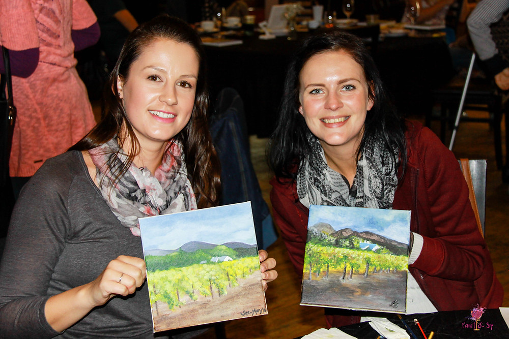 Fundraiser NGO Cape Town Paint Food Meal Wine Art Lesson Team team build