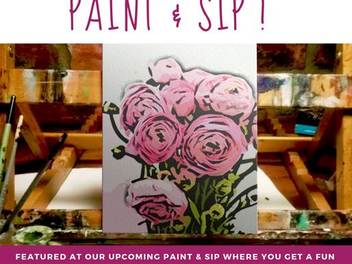 February Paint & Sip event | a sneak peek