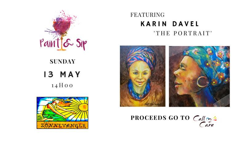 Paint&Sip,  Paint, Food, Meal, Wine, Art, Lesson, Creative, Artist, Artist Empowerment and Development, Team, Event, Team Build, Occasion, Fundraiser, Corporate Social Responsibility (CSR), NGO, Call 2 Care, Cape Town, Fun