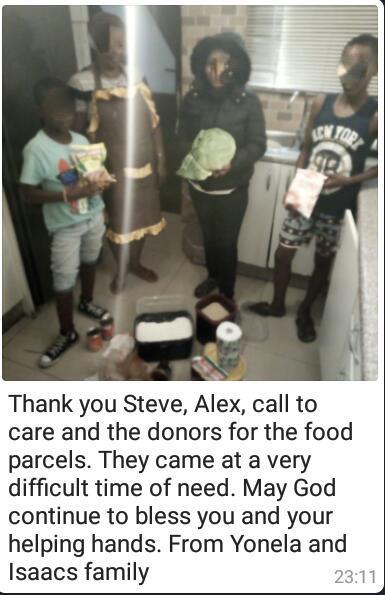 COVID-19 parcels Cape Town