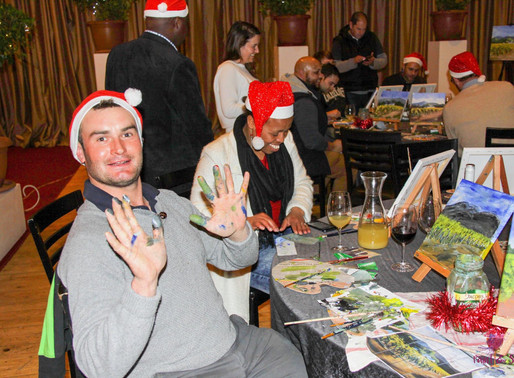 Empanda staff treated to a creative Paint & Sip Experience and team build