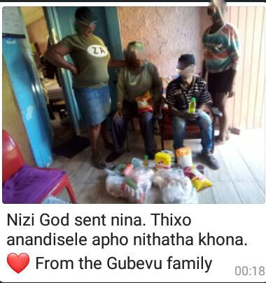 Gubevu family from Gugulethu