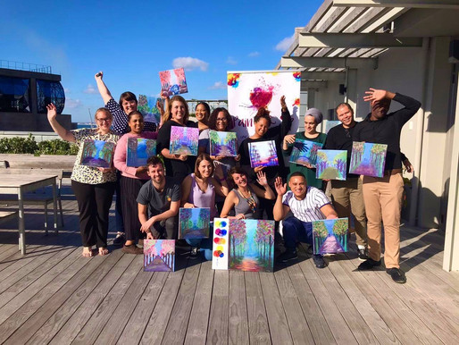 PWC Cape Town participate in a Paint & Sip