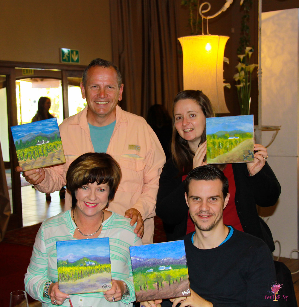 Fundraiser NGO Cape Town Paint Food Meal Wine Art Lesson