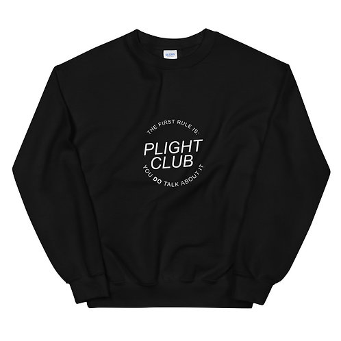 Plight Club - Unisex Sweatshirt Black