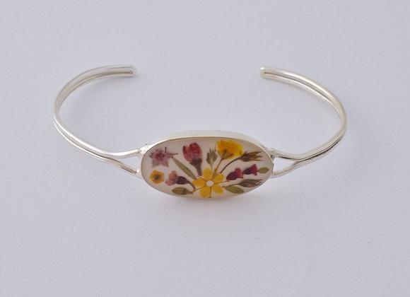 White Adults Oval  Bracelet