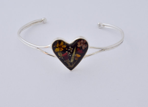 Black Childrens Heart Bracelets