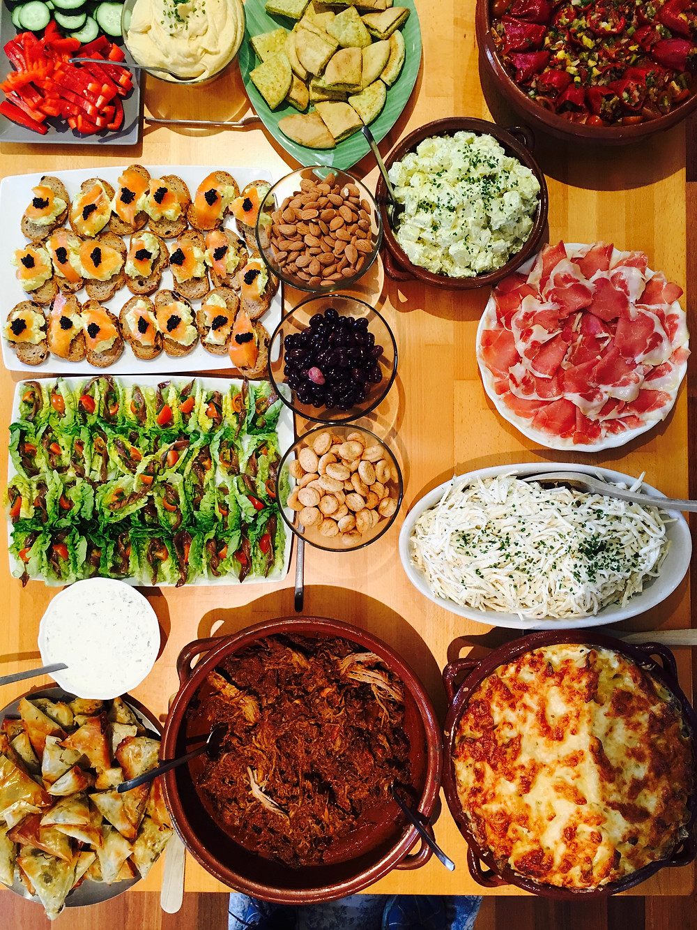 Spanish Style Tapas for a group of Americans in Mallorca