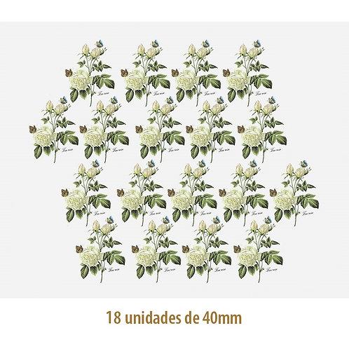 Tea Rose - 40mm