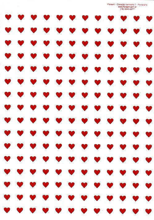 Coração Vermelho 01 - 0,7cm