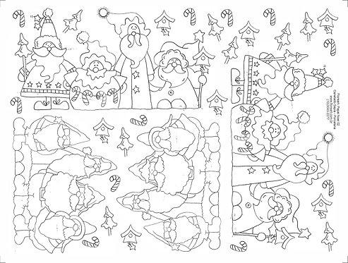 Decalque Contorno Papai Noel 02