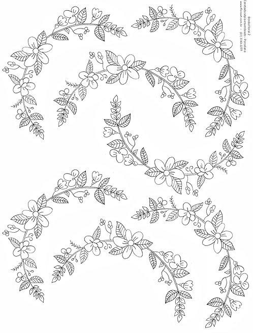 Decalque Contorno Borda Floral 02
