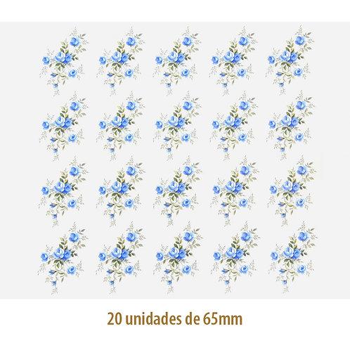 Little Blue Rose - 65mm