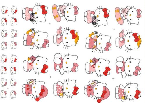 Decalque Colorido Hello Kitty