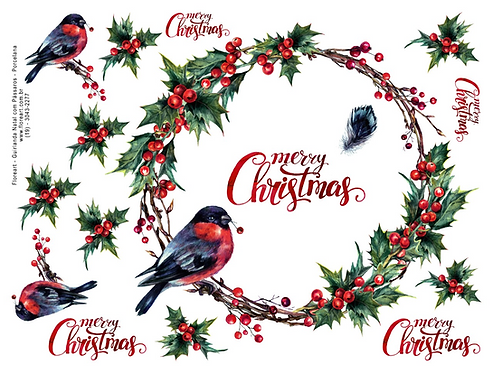 Guirlanda Natal Com Pássaros