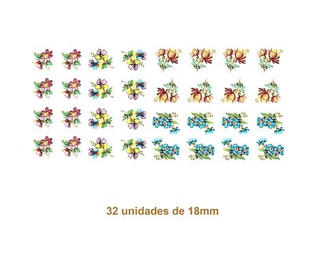 Colorful Flower D - 18mm
