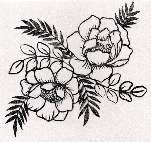 Carimbo - Rosas 01