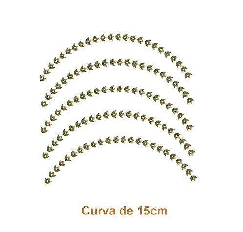Borda Botânica - Curva de 15cm (5un)