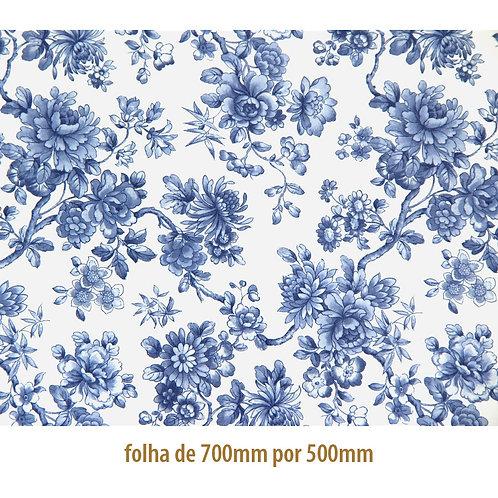 Tapete - Floral Blue (70x50cm)