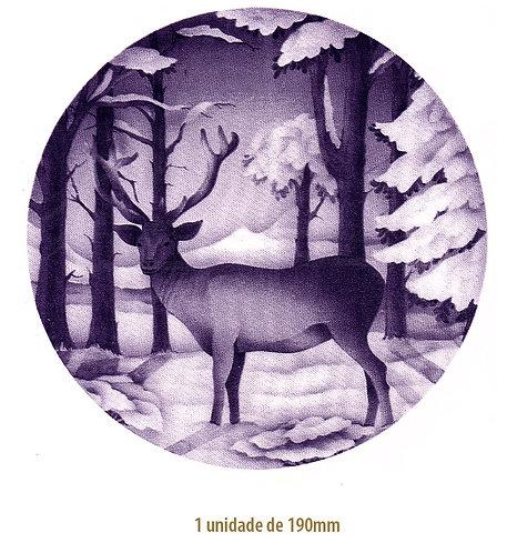Blue Christmas Deer - 190mm