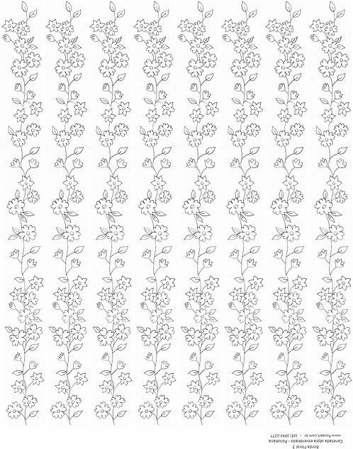 Decalque Contorno Borda Floral 03