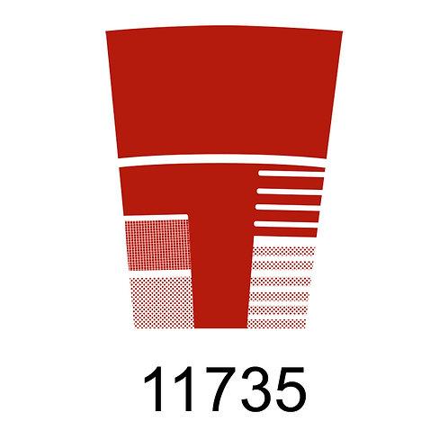 11735 - VERMELHO ALARANJADO PARA VIDRO