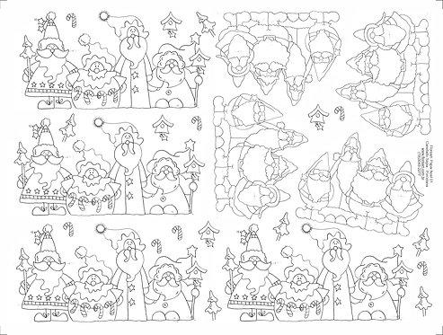 Decalque Contorno Papai Noel 01