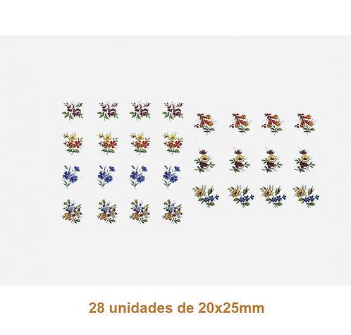 Floral L - 20x25mm
