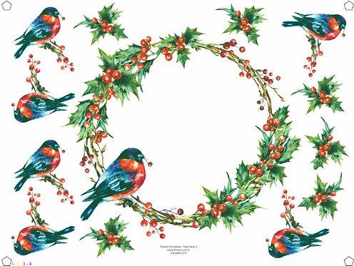 Prato Natal Pássaros