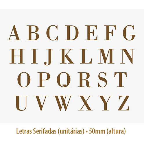 Letras Serifadas Ouro PARA VIDRO - 5cm