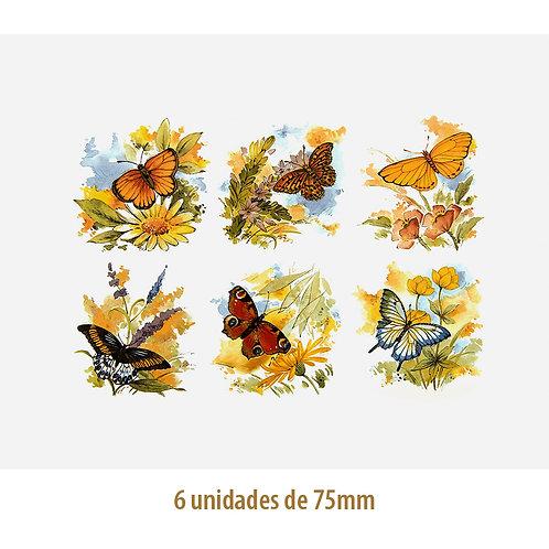 Mix of Butterflies - 75mm