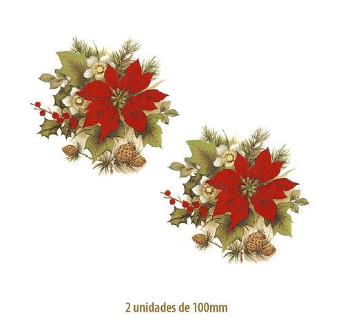 Xmas Flower B - 100mm