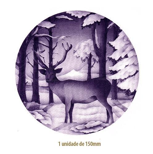 Blue Christmas Deer - 150mm