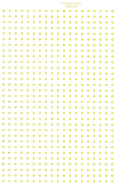 Bolinhas Coloridas 0,3m: Amarelo