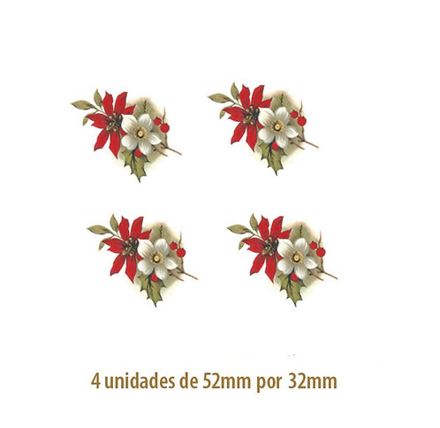 Xmas Flower - 52mm x 32mm