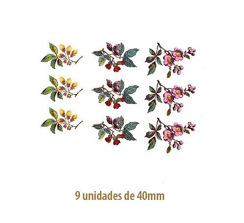 Beauty Flowers 40mm