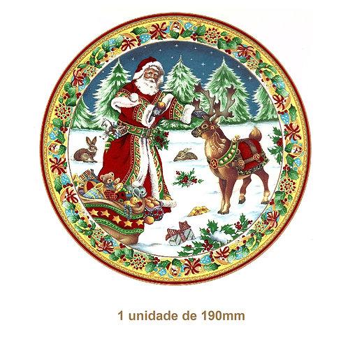 Santa Claus and Rudolf - 190mm