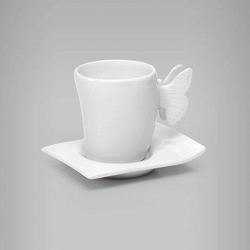 Xícara Café Borboleta