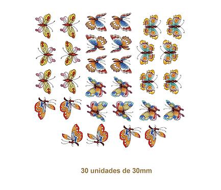 Oriental Butterflies - 30mm