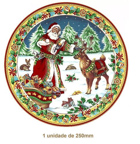 Santa Claus and Rudolf - 250mm