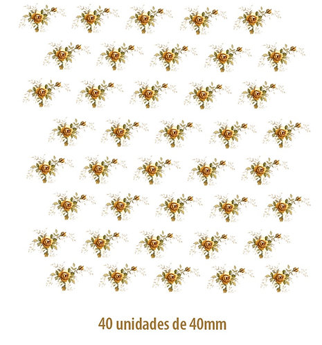 Little Yellow Rose - 40mm