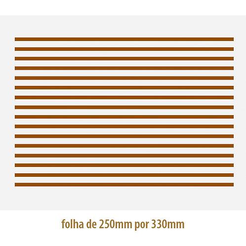 Filete Ouro 01 - Porcelana