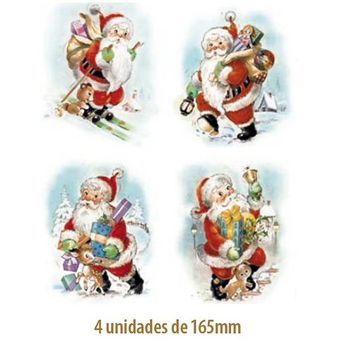 Papai Noel (4 modelos) - 165mm