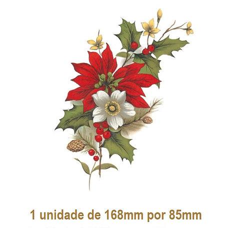 Xmas Flower E - 168x85mm